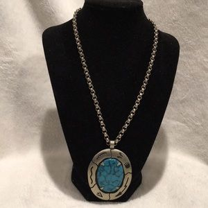 Vintage South Western Faux Turquoise Necklace